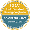 Seal: CDA Gold Standard Training Certification Comprehensive, Expires 7/27/2020